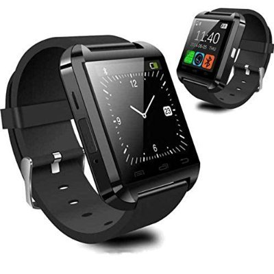 U Watch Smart Phone Watch|Compatible with Android as well as IOS|6 Months Manufacturers Warranty|Remarkable Design and Quality (Black)