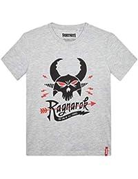 Fortnite Ragnarok Camiseta Manga Corta, Gris