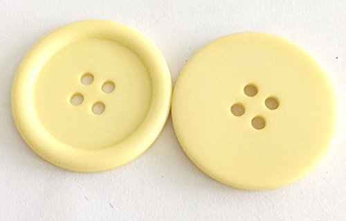 Bastel Express 15 Boutons en Plastique 22 mm en Acrylique, Jaune Clair, 22 mm