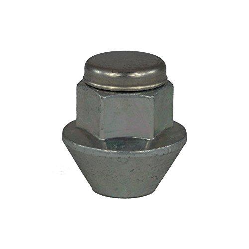 EvoCorse Écrou de roue fermé M12x1.5, Clé 19, Longueur 30 mm, Blanc galvanisé, 4 pcs