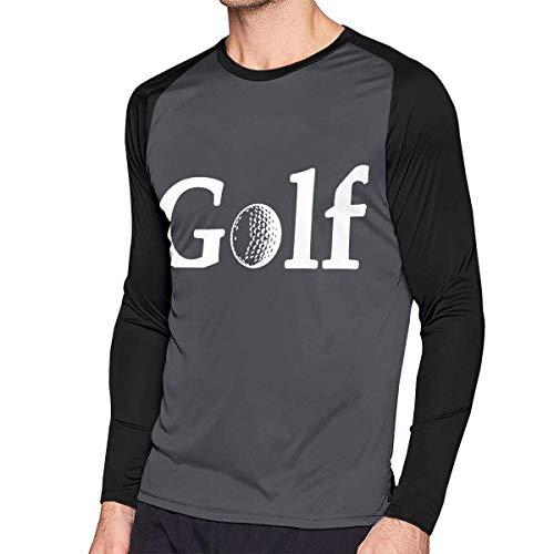 Herren Langarm Classic T-Shirt, Men's Casual Golf Cart Wheelie Long Reglan T-Shirt -