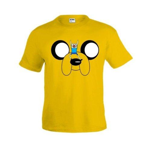 Camiseta Hora de Aventuras Jake amarilla manga corta (Talla: 11-12 añ