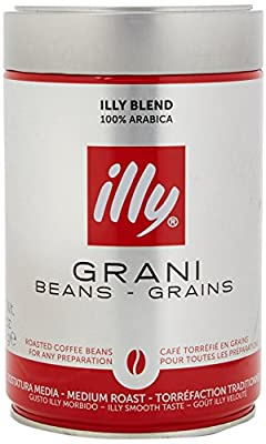 Illy Classic Roast Coffee Beans, Medium Roast, 250g