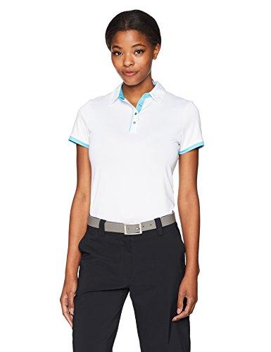 Callaway Damen Polo mit Kontrast Trim Short Sleeve Small bright white (Polo Kontrast Trim)