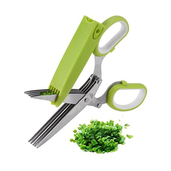 Best Deals - Vegetable Cutting Scissor with Cleaning Brush