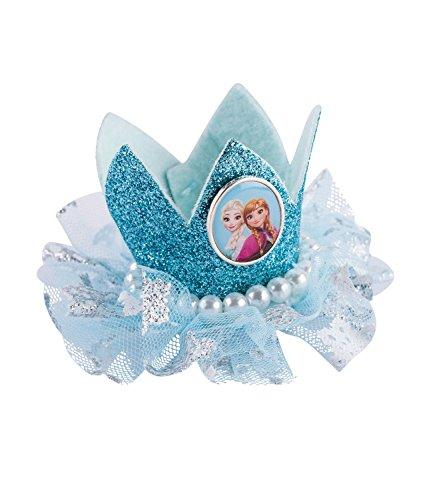 SIX Kids Disney Frozen Haarspange mit Kleiner Krone, Prinzessin Kostüm, Karneval, Schneekönigin (304-462)