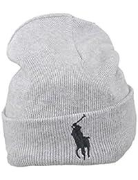 Bonnet Ralph Lauren gris pour homme