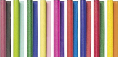 Brunnen 1030200 Bucheinschlagpapier / Einschlagpapier, Rolle, 70 x 200 cm, 70 g/m², sortiert, 9 Farben)