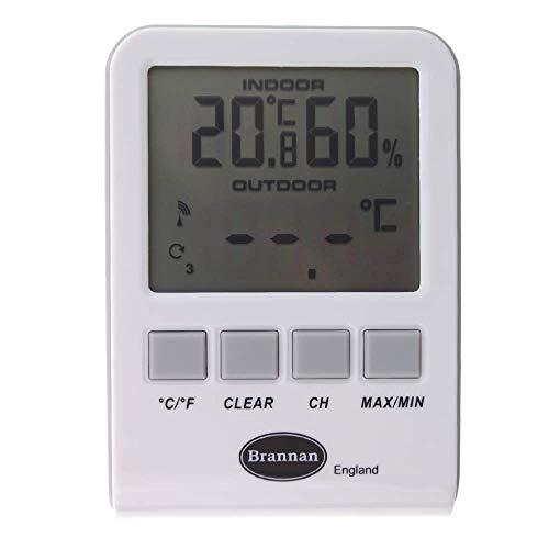Brannan Thermometer und Luftfeuchtigkeitsmesser, kabellos - Elfenbein-thermometer