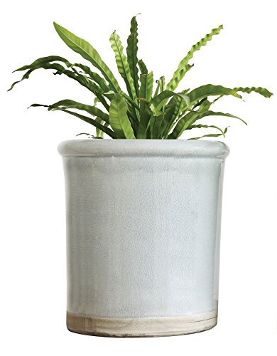 creative-co-op-da6937-decorative-seven-gallon-terra-cotta-crock-with-grey-crackle-finish
