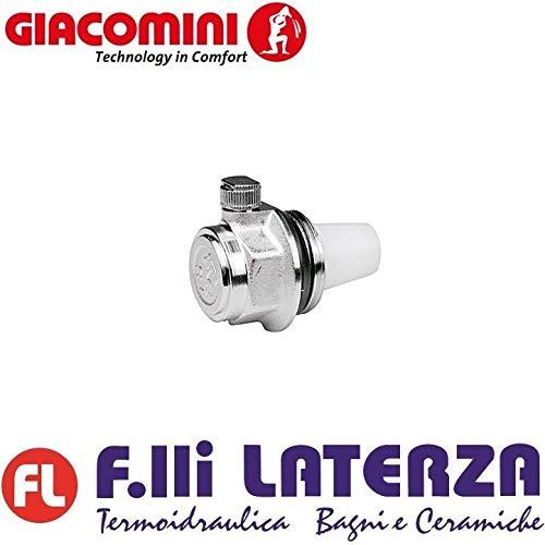"""Giacomini - Purgador automático de aire para radiador con rosca de 1"""" a derecha"""