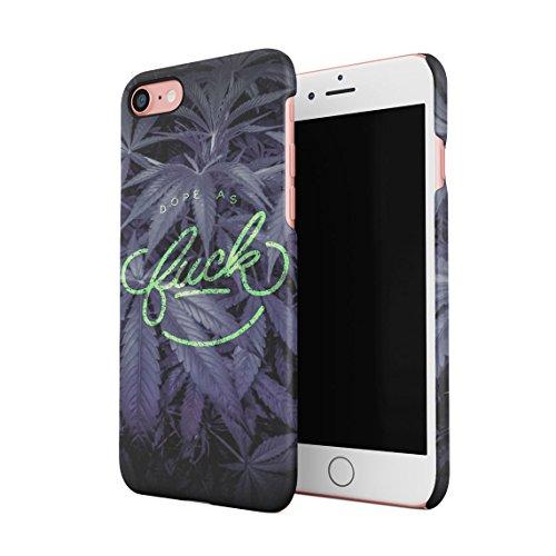 Dope As Fuck Cannabis Leaves Dünne Rückschale aus Hartplastik für iPhone 7 & iPhone 8 Handy Hülle Schutzhülle Slim Fit Case cover