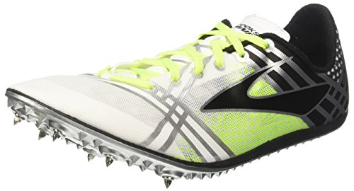 brooks 3 Elmn8, Zapatos para Correr para Hombre, Multicolor (White/Black/Nightlife), 47.5 EU