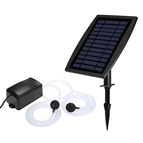 Decdeal Solar Teichbelüfter Luftpumpe Sauerstoffpumpe Tag und Nacht für Garten, Teich, Aquarium