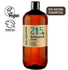 Idea Regalo - Naissance Mandorle Dolci Naturale 1L - Vegan, senza OGM - Ideale per la cura della Pelle e dei Capelli, l'Aromaterapia e come olio da Massaggio di base