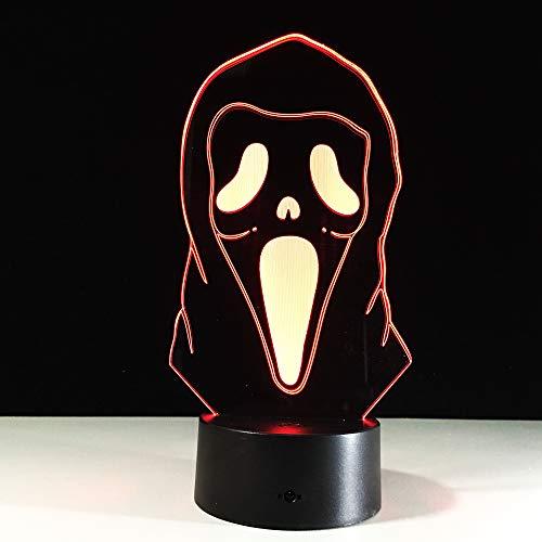 orangeww 3D Illusion Nachtlicht/Fahrrad/Skateboard/gesichtsloses Monster/Ente/Cleveland Cavaliers / 7 wechselnde Farben Touch/Weihnachtsgeschenk/Kinderzimmer Gesichtslos -