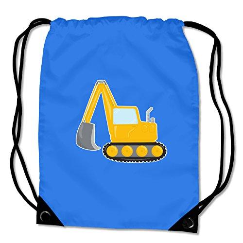 Turnbeutel Cooler Bagger Sportbeutel für Schule Sport Sporttasche Bag Base® BG10 Gymsac 45x34cm saphir blau/farbiger Aufdruck