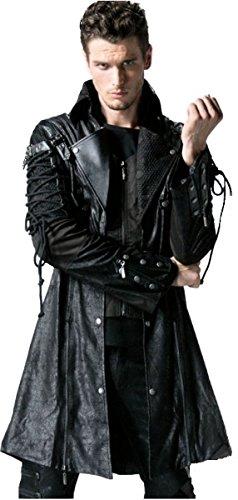 Dark Dreams Gothic Steampunk Jacke Mantel Gehrock Schnürung M L XL XXL Punk Rave, (Kostüme Militärische Erwachsenen Jacke)