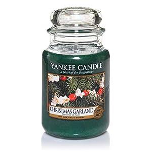 Yankee Candle Duftkerze im großen Jar, Christmas Garland, Brenndauer bis zu 150Stunden