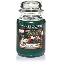 Yankee Candle bougie jarre parfumée, grande taille, Guirlande de Noël, jusqu'à 150heures de combustion