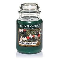 Brand: Yankee Candle, 22oz Large Housewarmer Jar, Scent: Christmas Garland, Burn Time: Large Jar 110 to 150 Hours.
