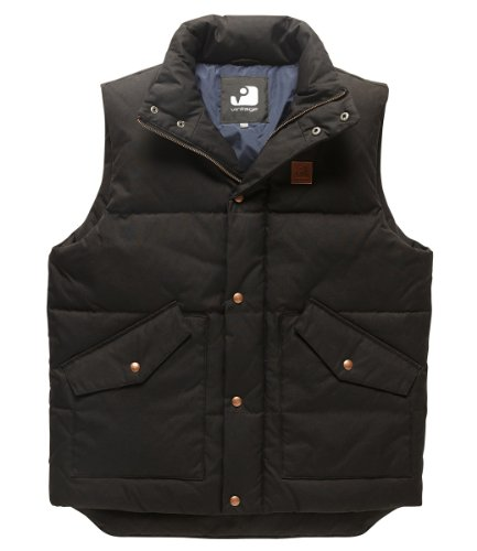 Vintage Industries Newbury Bodywarmer Navy Dark Olive
