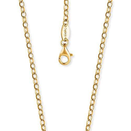 Engelsrufer Damen Ankerkette 925er-Sterlingsilber vergoldet Länge 70 cm