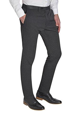 next Homme Coupe Skinny Pantalon Sans Pinces Gris