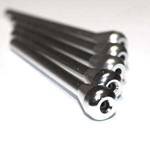 TitanOwl Lot de 5renifleurs en métal pour tabac à priser Couleur Argent