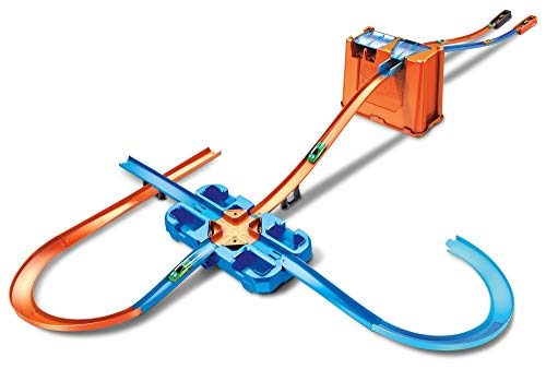 Hot Wheels GGP93 - Track Builder Mega Stunt Box mit Tracksets und -