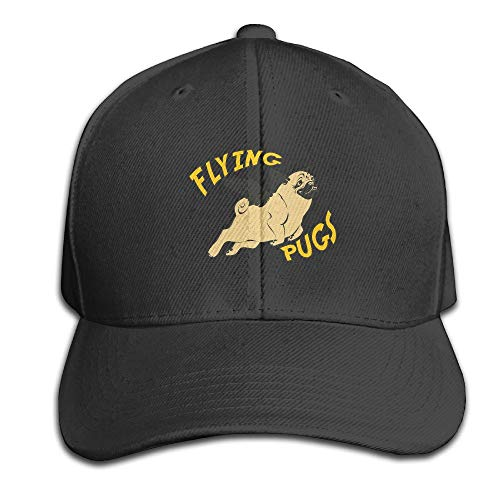 611766e1370 Osmykqe Flying Angle Pugs Adjustable Baseball Caps Unstructured Dad Hat  100% Cotton Red
