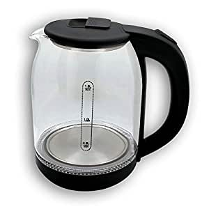 ORBON Exclusive Glass Model 1.8 Litre 1500 Watts Electric Tea Kettle   Electric Tea Coffee Milk Soup Water Warmer   Egg Boiler   Noodle Maker   Multipurpose Kettle   Electric Ketali (Plain Glass)