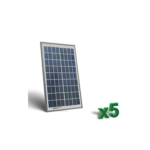Foto de Peimar - Conjunto de 5 x 10W 12V Placa Solar Panel Fotovoltaico tot. 50W Camper - SET5-10