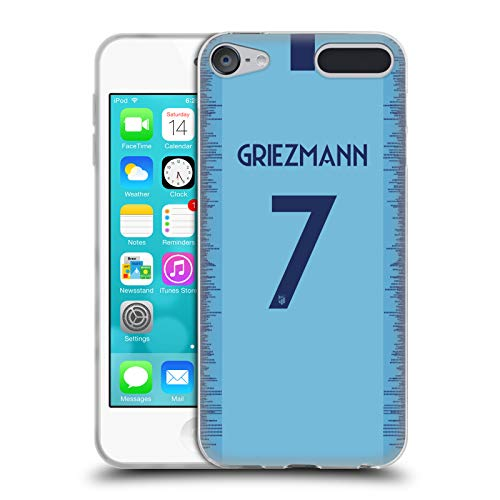 Head Case Designs Offizielle Atletico Madrid Antoine Griezmann 2018/19 Spieler Away Kit Gruppe 1 Soft Gel Huelle kompatibel mit Apple iPod Touch 6G 6th Gen -