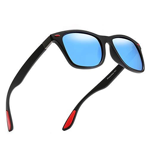 xinzhi Polarized Sonnenbrillen, Retro Driving Glasses Herren-Sonnenbrillen Fashion Goggles Scrub Polarized Sonnenbrillen - # 5, Schwarzer Rahmen Blau