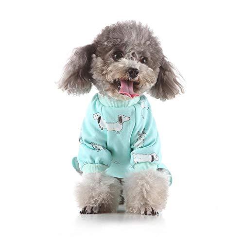 delibett Kleiner Hund Schlafanzüge, Hund Winter Kleidung, Pet Puppy Hund Innen Jumpsuit Coat Dackel Chihuahua Kleidung Outfits - Dackel Kostüm Muster