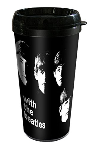 Empireposter – Beatles, The – With Beatles – Taille (cm), env. Ø 9 H17 – Gobelet de voyage neuf – Beatles plastique Travel Mug : with Beatles – Description : – Tasse Double Paroi en plastique, conique, fond Ø6 cm. Capacité : env. 450 ml avec couvercle -