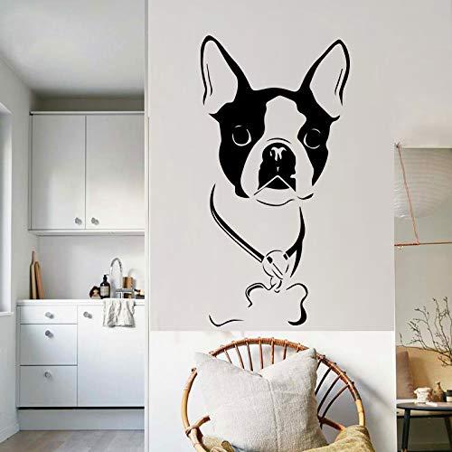 Preisvergleich Produktbild zxddzl Niedlichen Hund Kreative Tier Design Wandaufkleber für Wohnzimmer Hintergrund Zubehör Vinyl Removable Home Decor Art Wallpaper 43X84 cm