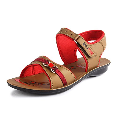 Tempo Women's Tan Synthetic Leather Fashion Sandals-8