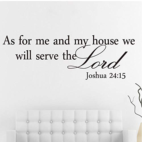 �e Joshua 24:15 Quote Wandaufkleber Bibel Verse Lord Decal Removable Diy Room Decor ()