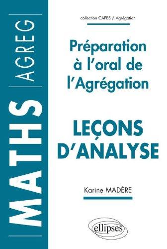 Leçons d'analyse: Préparation à l...