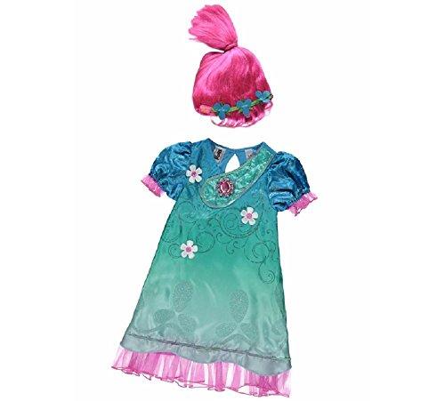 Kids Fancy Dress George DreamWorks Trolle Poppy Mohn Kostüm Kostüm Outfit W/Sound - - Little Foot Kostüm