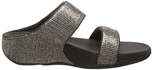 Fitflop Lulu Tm Superglitz Slide, Infradito Donna Brown (Bronze)