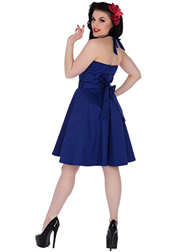 Dolly and Dotty NANCY Sweetheart 50s Neckholder Pin Up KLEID Navy Rockabilly Navyblau