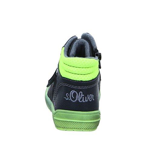 s.Oliver 35300, Sneakers Hautes Garçon Noir (1)