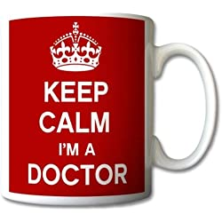 Keep Calm I 'm A Doctor Taza regalo Retro