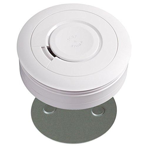 Ei Electronics Rauchmelder mit Lithiumbatterie Ei650 Brandmelder mit oder ohne Magnetklebepad (2...
