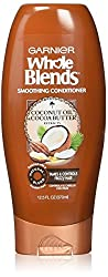 Garnier Whole Blends Smoothing Conditioner, Coconut Oil & Cocoa Butter extracts, 12.5 Fluid Ounce