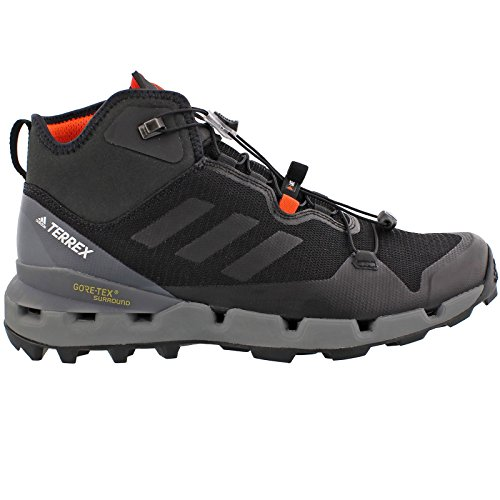 adidas outdoor Terrex Fast GTX-Surround Mid Hiking Boot - Men's Black/Black/Vista Grey, 10.0 Mid Gtx Backpacking Boot