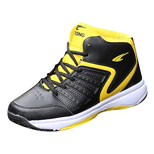 AIni Herren Schuhe 2019 Neuer Heißer Beiläufiges Mode Outdoor Schnürschuhe Freizeitsportschuhe Basketballschuhe Atmungsaktiver Sneaker Freizeitschuhe Partyschuhe (39,Schwarz)